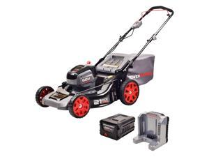 Powerworks 2503513AZ 21-inch 60V Brushless Push Mower with 5Ah Battery & Charger