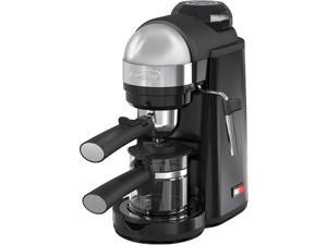 Brentwood 800 Watt Cappuccino Brewer and Espresso Maker w/ Frothing Wand,  Black