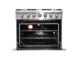 Cosmo 36 Inch 6 Cubic Foot Gas Range Convection Oven with 6 Italian Burners