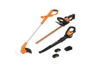 WORX WG910 2-in-1 Trimmer and Edger, Hedge Trimmer and Leaf Blower/Sweeper Combo