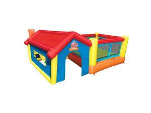 Banzai BAN-13970 Inflatable Bounce House and Outdoor Playhouse w/ Motor Blower