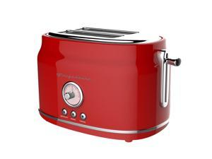 Frigidaire ETO102 Retro 2 Slice Toaster Maker with Wide Slots for Bread, Red