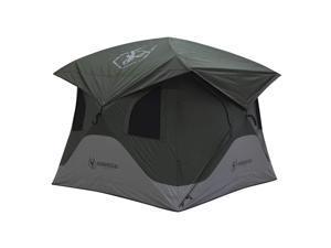 Gazelle T3X GT301GR 3 Person Pop Up Portable Camping Hub Tent, Alpine Green