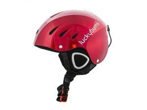 Lucky Bums Adult Unisex Ski Snowboard Snow Sport Safety Helmet, Red, X Large