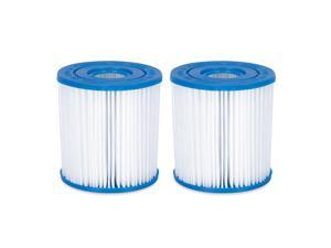 Summer Waves P57100402 Replacement Type I Pool and Spa Filter Cartridge, 2 Pack