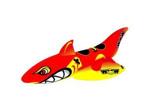WOW Watersports Inflatable Big Shark 2 Person Towable Boating Tube w/ Handles