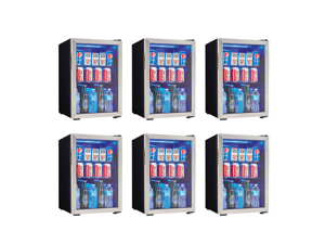 Danby 95 Can 2.6 Cu. Ft. Free Standing Beverage Center, Stainless Steel (6 Pack)