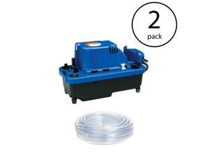 Little Giant VCMX-20ULST NXTGen Condensate Removal Pump with Tubing (2 Pack)