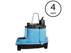 Little Giant 6 Series 1/3 HP Integral Diaphragm Submersible Sump Pump (4 Pack)