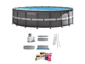 """Intex 18' x 52"""" Ultra Frame Above Ground Pool w/ Pump & Chemical Cleaning Kit"""