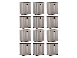 Suncast 9 Cu Ft Heavy Duty Resin Garage Base Storage Cabinet, Platinum (12 Pack)