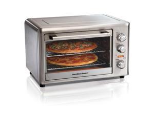 Hamilton Beach 31103D Countertop Compact Toaster Oven with Rotisserie, Silver