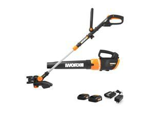 Worx WG954.1 Cordless GT Revolution String Trimmer & Turbine Blower Combo Kit