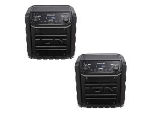 ION Stadium Wireless 2 Way Bluetooth Rechargeable Speaker System, Black (2 Pack)