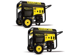 Champion 7500 Watt Portable Electric Start RV Ready Gasoline Generator (2 Pack)