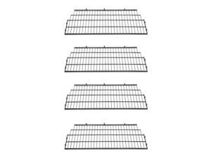 Suncast BMSA7S Vertical Storage Shed Metal Wire Shelf Rack Shelving (4 Pack)
