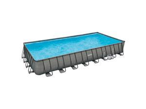 Summer Waves 32ft x 16ft x 52in Above Ground Rectangle Frame Swimming Pool Set
