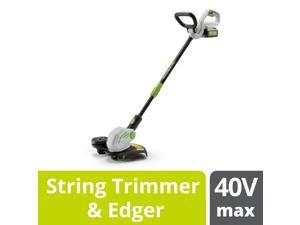 PowerSmith 40V Max Cordless Battery Powered Lawn Weed String Trimmer and Edger