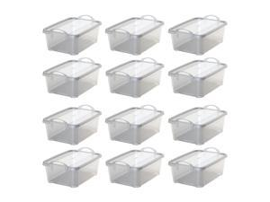 Life Story Clear Closet Organization & Storage Box Container, 14 Quart (12 Pack)
