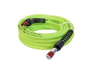 Flexzilla HFZP3825YW2D 3/8in x 25ft w/ Coupler Plug Type D Red Pro Air Hose