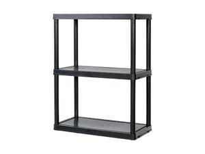 Gracious Living 91019MAXIT-1C54 3-Shelf Light Duty Shelf Unit, Black
