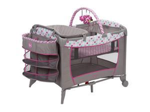 Disney Baby PY373EGF Sweet Wonder Play Yard with Bassinet, Storage, Minnie Dot