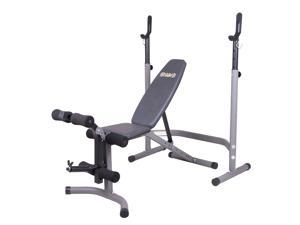 Body Flex Sports 2 Piece 5 Position Adjustable Steel Olympic Weight Bench Set