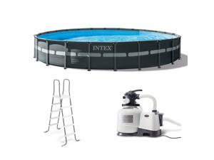 """Intex 24' x 52"""" Ultra XTR Frame Round Swimming Pool Set with Sand Filter Pump"""