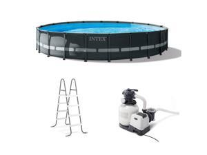 """Intex 26333EH 20' x 48"""" Round Ultra XTR Frame Swimming Pool Set with Filter Pump"""