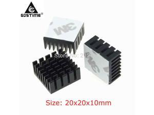 200Pcs  Extruded Aluminum Heatsink Heat sink 20x20x10mm for Electronic Chip VGA Card