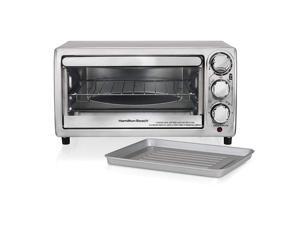 Hamilton Beach 31143 4 Slice Toaster Oven Broiler, Stainless Steel