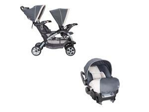 Baby Trend Sit N Stand Travel Double Baby Stroller and Car Seat Combo, Magnolia