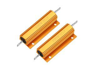 Aluminum Case Resistor 100W 3 Ohm Wirewound Yellow for LED Replacement Converter 100W 3RJ 2Pcs