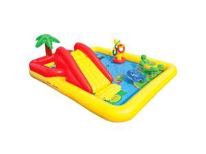 "Intex 100"" x 77"" Inflatable Ocean Play Center Kids Backyard Kiddie Pool & Games"