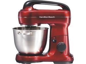 Hamilton Beach 63395 7 Speed Stand Mixer, Metalic Red