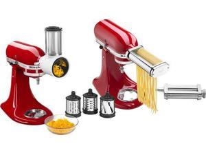 Pasta Cutter and Fresh Prep Attachment Bundle - White/Metal