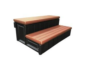 Confer Leisure Accents 36 Inch Deluxe Patio Long Hot Tub & Spa Step, Redwood
