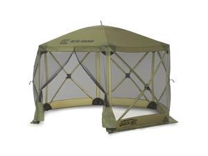 CLAM Quick-Set Escape 11.5 x 11.5 Ft Portable Outdoor Camping Shelter, Green
