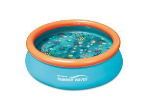 Summer Waves 8ft x 30in Kiddie Inflatable Above Ground Pool (No Pump Included)