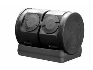 Good Ideas Compost Wizard Outdoor Garden Duel Tumbler Compost Container, Black