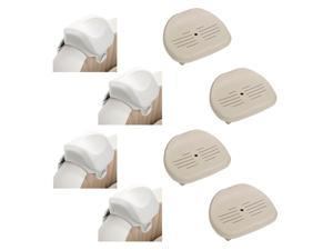 Intex 28505E PureSpa Foam Headrest (4 Pack) & Intex 28502E Hot Tub Seat (4 Pack)