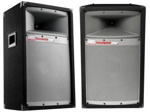 "MTX 12"" 300W 2-Way Loud Cabinet Tower DJ PA Speaker Audio System, TP1200, 2 Pack"