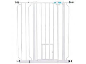 """Carlson Pet Products 36"""" Extra Tall Pet Gate with Lift Handle and Small Pet Door"""