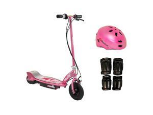 Razor E100 Electric Kids Girls Scooter (Sweet Pea) w/ Helmet, Elbow & Knee Pads