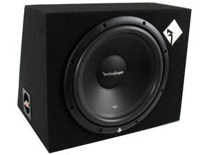 "Rockford Fosgate R1-1X12 12"" 400 Watt Loaded Car Subwoofer Sub Enclosure"