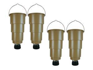 NEW! (4) MOULTRIE 5 Gallon All in One Hanging Deer Feeders w/ Adjustable Timer