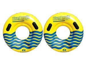 "2 NEW Swimline 17035ST Swimming Pool River Rough 48"" Heavy Duty Floating Tubes"