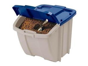 13) Suncast BH181812 Storage Trend Taupe 18 Gallon / 72 Quart Stacking Tote Bins