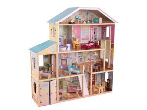 KidKraft Majestic Mansion Pretend Play Wooden Dollhouse with Furniture