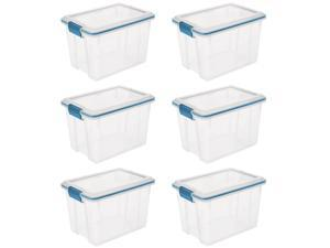 Sterilite 20 Quart Gasket Box with Clear Base and Lid (6 Pack) | 19324306